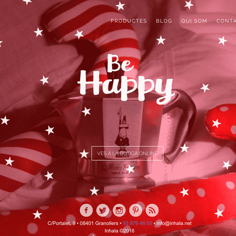 Inhala - Diseño web Navidad