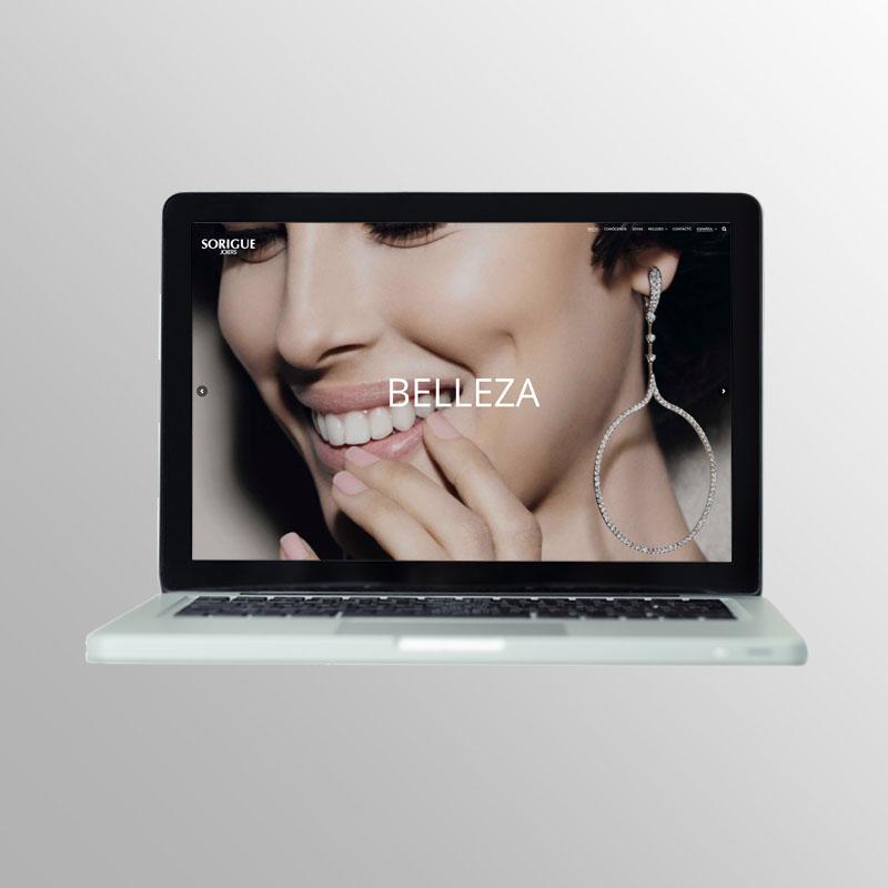 Sorigue Joiers - Diseño portada web