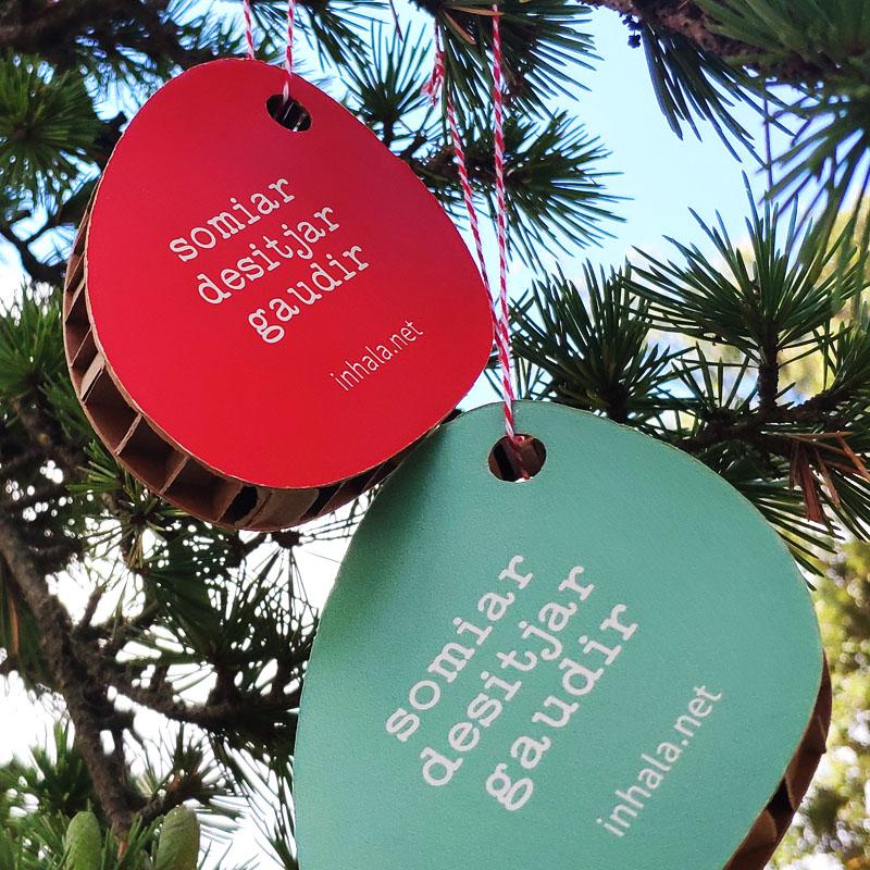 INHALA - Etiquetas navidad